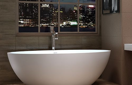 Florence Freestanding Solid Surface Stone Bath